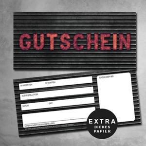 100 KFZ Gutscheine Rock Gutscheinkarten Garagen Gutscheine