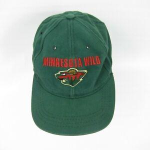 Minnesota-Wild-Trucker-Baseball-Cap-Hat-NHL-Hockey-Green-Embroidered-Logo-One-Sz