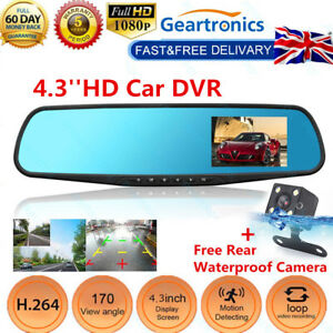 4-3-039-039-Car-DVR-1080P-HD-Dual-Lens-Auto-Dash-Video-Mirror-Cam-Record-Rear-Camera