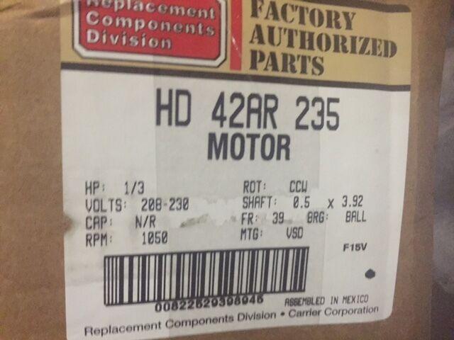 HD44AE138 Carrier Bryant Payne 1//2 HP 230v X13 Furnace Blower Motor /& Module