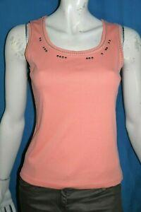 UN-JOUR-AILLEURS-Taille-36-Superbe-debardeur-femme-couleur-corail-tee-shirt-top