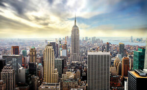 Details About 2 Sizes Available Photo Wallpaper Wall Mural For Bedroom Office New York Skyline