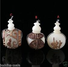 3x Carved Original Bodhi Lotus Seeds Guru Beads Buddha Necklace Making Charms