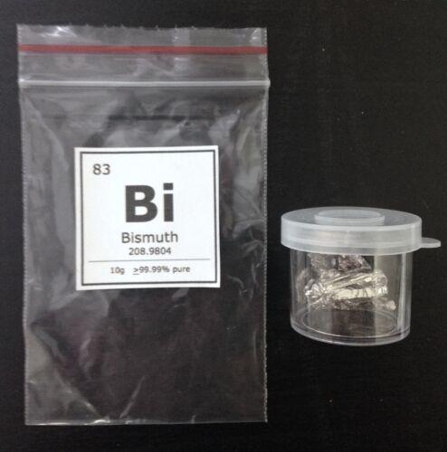 10g Bismuth Element Display Sample 99.99/% PureElement 83
