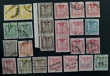RARE c. 1931- New Zealand lot of 27 Arms Stamp Duty stamps Used