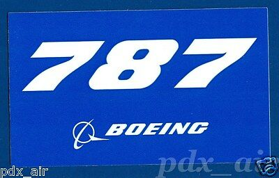 Boeing Logo 787 Blue Sticker Ebay
