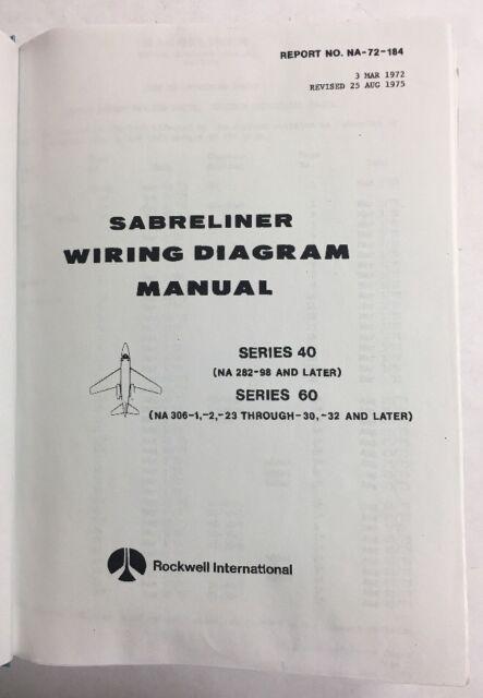 Sabreliner Series 40  U0026 60 Wiring Diagram Manual