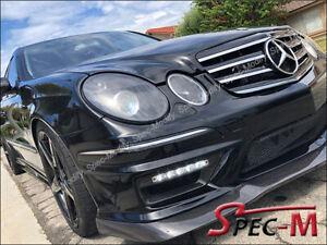 Fits-06-09-Benz-W211-E63-AMG-CS-Style-Front-Bumper-Lip-Carbon-Fiber-CF
