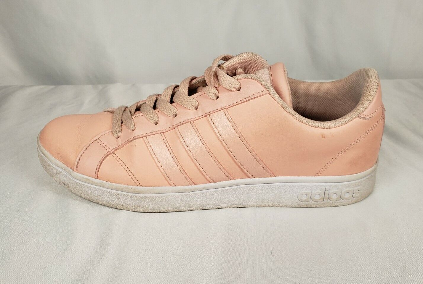 Womens Adidas Neo Pink Coral Baseline Sneaker Shoes S… - Gem