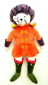 Ikea-Ridderlig-White-Cat-Puss-in-Boots-Soft-Plush-Toy-Retired-Orange-Costume