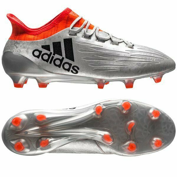 the best attitude b524c 95478 adidas X 16.1 FG/AG Football Rugby Boots tech fit Silver red UK7-13 RRP £160
