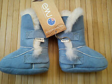NICE BLUE FUR WARM WINTER EMU AUSTRALIA BABY BOY GIRL SHOES  BOOTS 0/3 MTHS