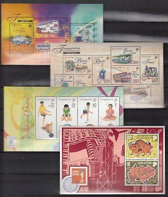 Original Singapur, 1997 Block 53, 54, 55, 56 **, (20098)