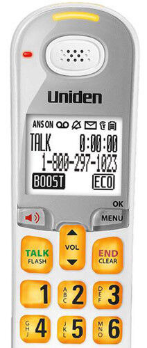 Uniden D3097-2 Cordless Amplified Phone w// Audio Boost /& 1 Additional Handset