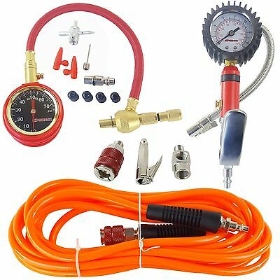 Air Pump Up Tire Inflation Kit airmaxxx Fill Gauge w/ 20 FT ARB Hose & Fittings
