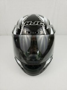 Black-HJC-Star-Checker-CL-12-Full-Face-Motorcycle-Helmet-Small-Snell-M95-DOT