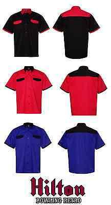 Hilton Bristol Retro Throwback Bowling Shirt Mens Size S-2XL KingpinHP2260