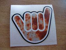 No Worries Hand - Rust Effect - sticker bomb / rat look - decal 110x100mm