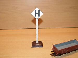 Spur 0/1 Halt H.: 15 Cm Schild Mit Einem LangjäHrigen Ruf Schöne Erh Bing 673