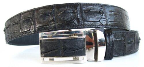 "Genuine Real Backbone Crocodile Alligator Skin Leather Men/'s Black Belt 35-45/"""