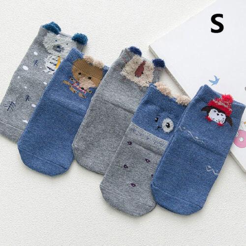 1Pairs Ankle Socks Baby Boy Girl Animal Cartoon Children Socks Toddler Kids Soft