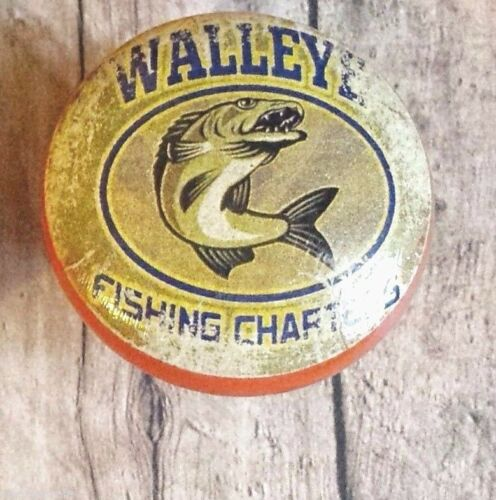 "6 Handmade Fishing Wood Knob Cabinet Knobs Walleye Fishing Cabin Decor 1.5/"""