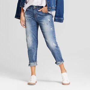 65056dd6 NEW Women's Mid-Rise Roll Cuff Boyfriend Jeans - Universal Thread ...