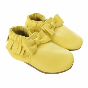 26ca9f6cea7 NIB ROBEEZ Shoes Maggie Moccasin Yellow 0-6-12-18-24m 1 2 3 4 5 6 7 ...