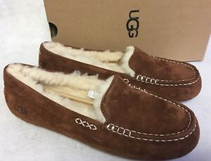 4f6887978d7 Details about UGG Australia Ansley Tamarind Suede Moccasin Slippers Slip On  Shoes 3312