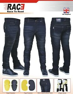 Mens-Motorbike-Motorcycle-SKINNY-SLIM-JEANS-STRETCH-DENIM-with-Protective-Lining