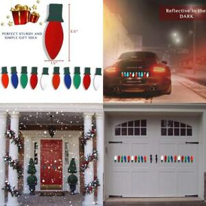 Christmas Car Decorations.Details About Christmas Car Decorations Magnets Decals Stickers For Door Garage More Set Of 10