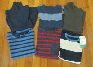 Lot-Boys-Shirts-Size-4-5-6-Gap-H-amp-M-Long-Sleeved-Striped-Crewnecks-Turtlenecks