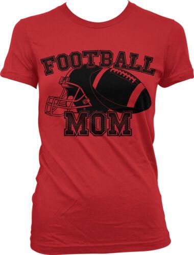 Football Mom Helmet Mommy Mama Sports Mother/'s Day  Juniors T-shirt