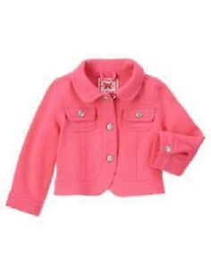 Gymboree-Posh-amp-Playful-Pink-Jacket-Coat-Sweatshirt-Size-2T-3T-New