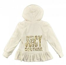 Juicy Couture Girls 2pc Ivory Velour Sweat Suite Size 5