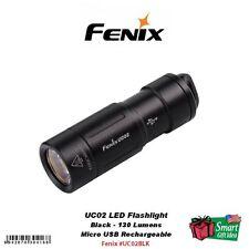Fenix UC02 LED Keychain Flashlight, USB Rechargeable, Black #UC02BLK