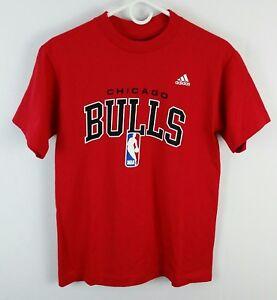 Chicago-Bulls-Adidas-T-Shirt-Mens-Size-Small-NBA-Basketball-Red-Tee