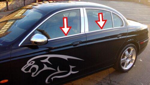 Jaguar X-Type 2001-2009 Chrome Windows Frame Trim 4 Door 4Pcs S.Steel