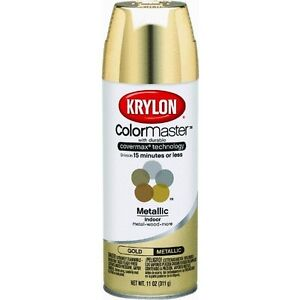 gold 12 oz can krylon indoor outdoor spray paint 51510