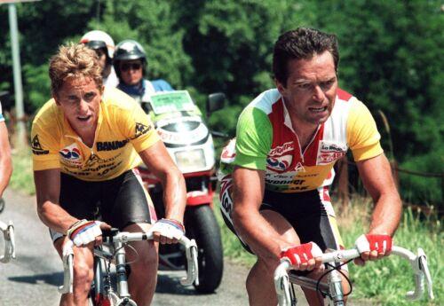 GREG LEMOND /& BERNARD HINAULT TEAM LA VIE CLAIRE TOUR DE FRANCE 1986 POSTER
