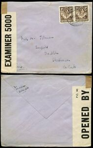 NORTHERN RHODESIA to IRELAND 1940 CENSOR...BROKEN HILL to SKIBBEREEN