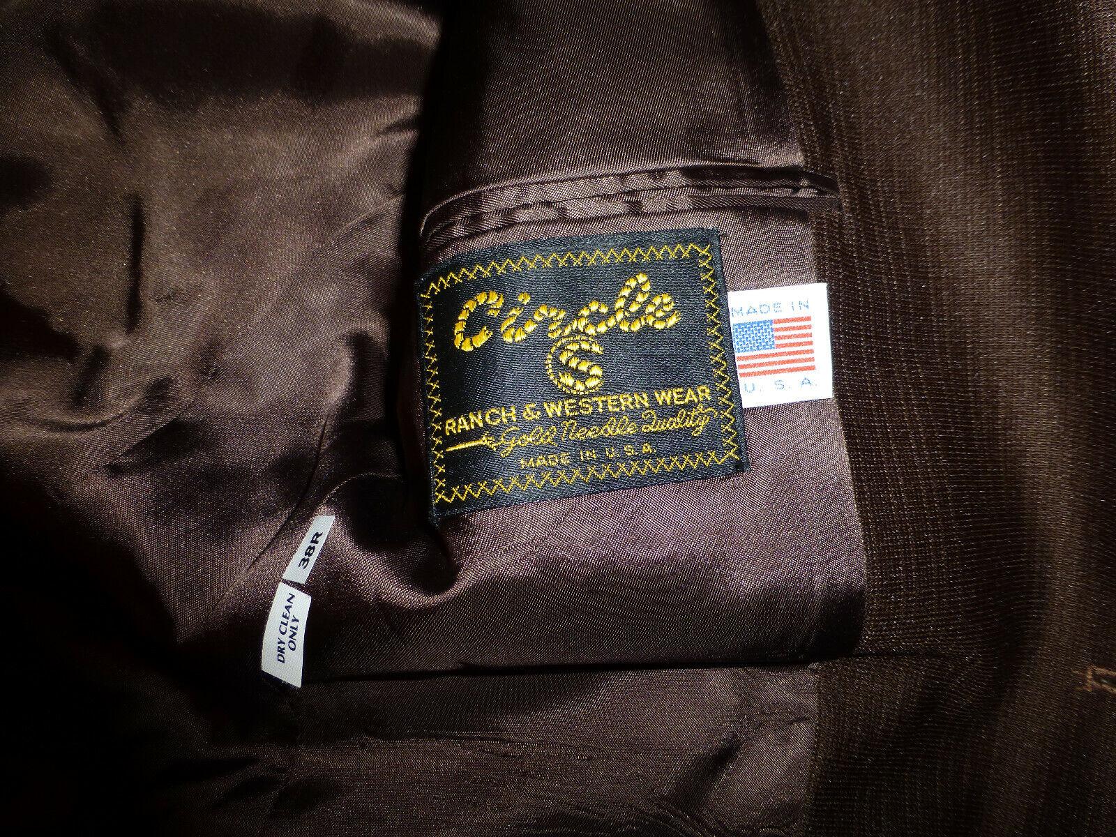 Vintage CIRCLE S Men's Ranch Western Suit Chocola… - image 9