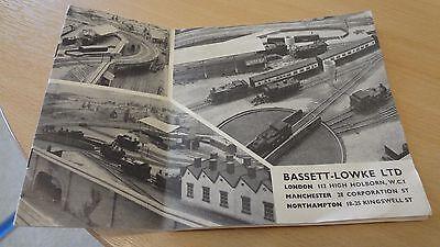 Appena C 1957 Bassett-lowke Ltd Model Railways Price List Catalogue Booklet.