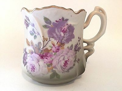 Vintage Nippon China Purple Lavendar Floral Moustache Cup Japan