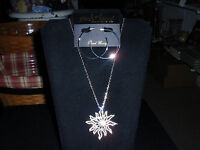 Park Lane Jewelry, solara Necklace & amuse Earrings Silvertone, Crystals