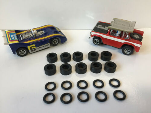 AFX-NEW-10 each Front /& Rear Tires--AFX SLOT CARS--Mag /& Non Mag Chassis AURORA