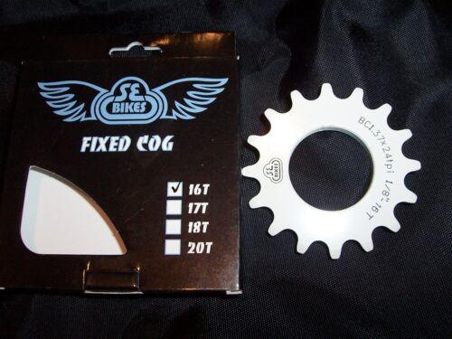 White SE-Bikes Fixed Cog 16T 6061 Alloy