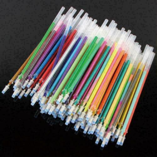 100pcs Nachfüllpackung mit 10pcs Pen Case Bunte Gel Refill Pen Delicate