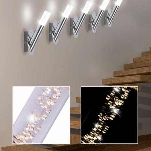 5er Set LED Wand Strahler Leuchten Luftblasen Chrom Energie Spar Living-XXL