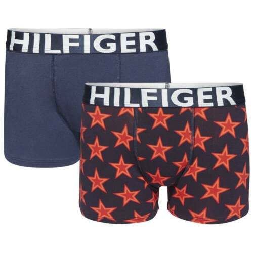 Tommy Hilfiger Boys 2 Pack Boxer Trunk Stars Navy Blazer Scooter Red